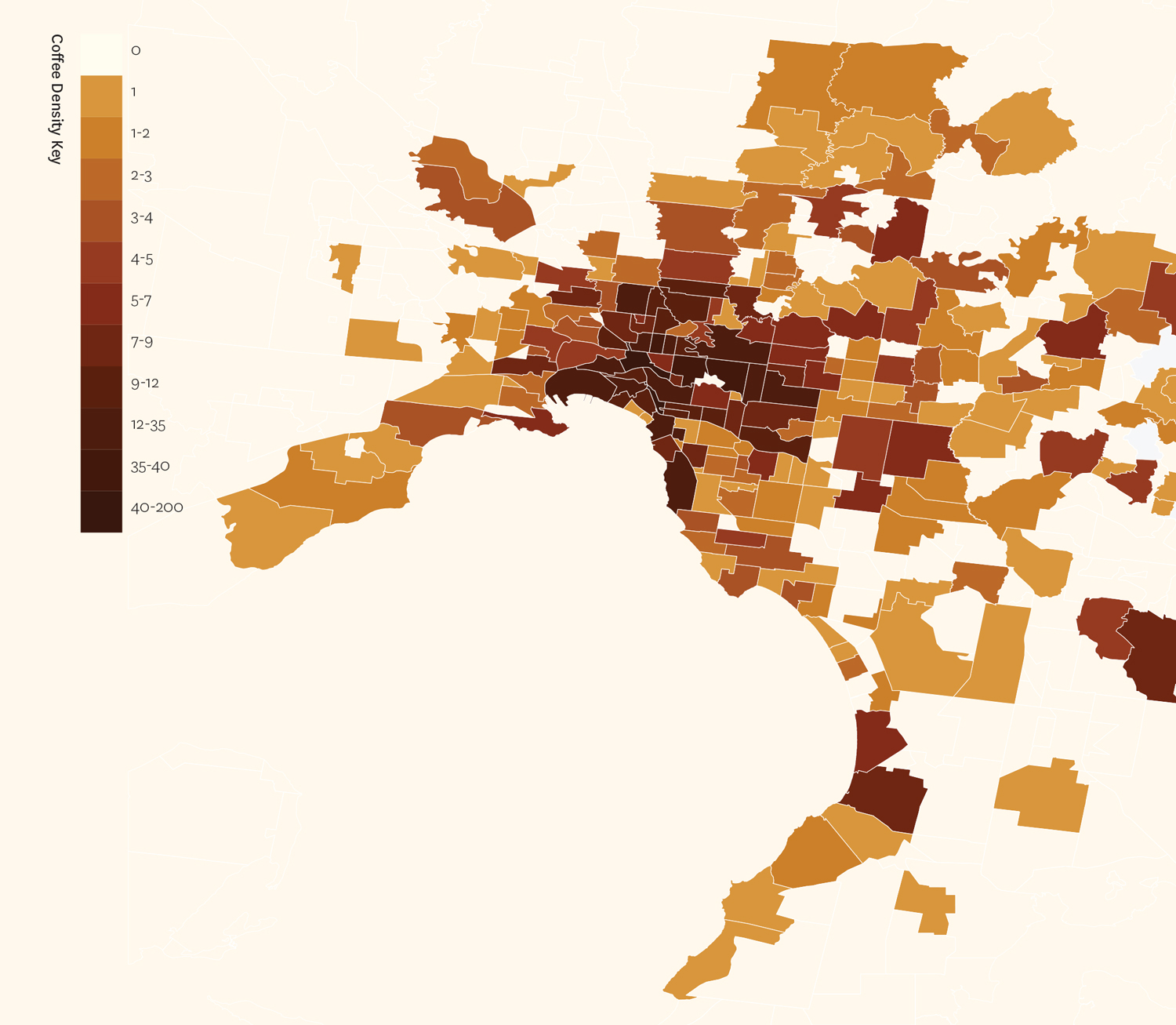 Coffee Shop Density Map
