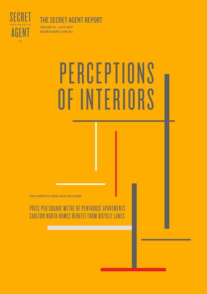 Cover image of The Secret Agent Report July 2017 issue, Perceptions of Interiors